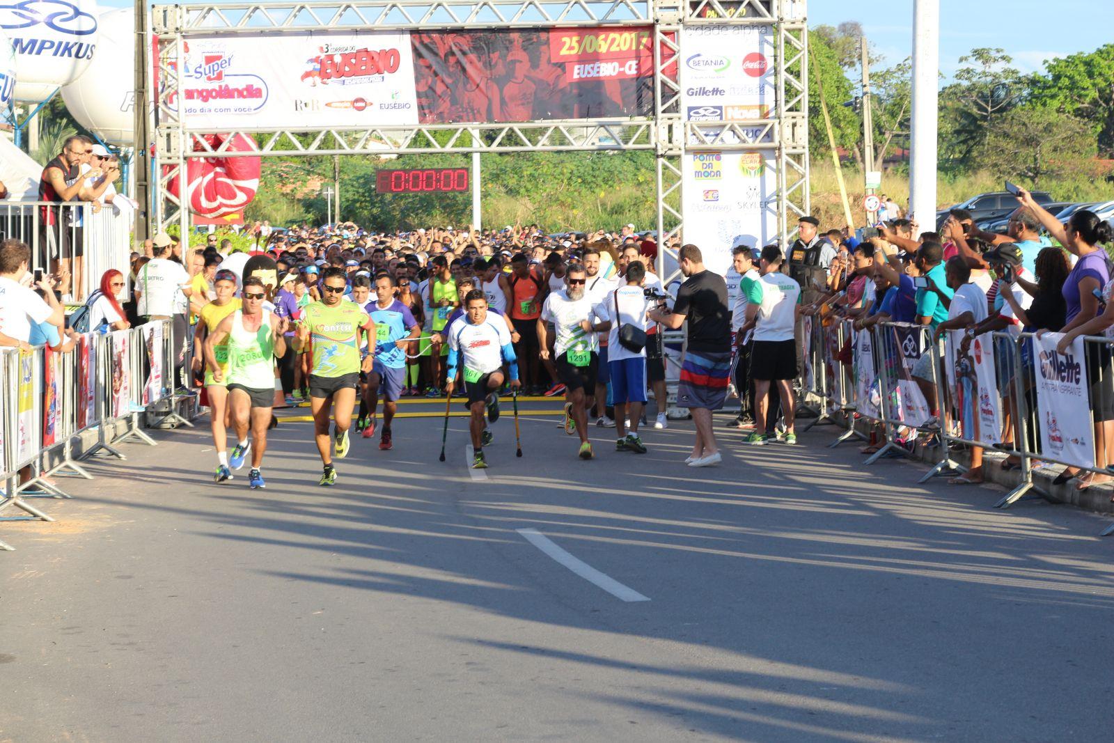 Terceira corrida do Eusébio tem mais de 4 mil competidores