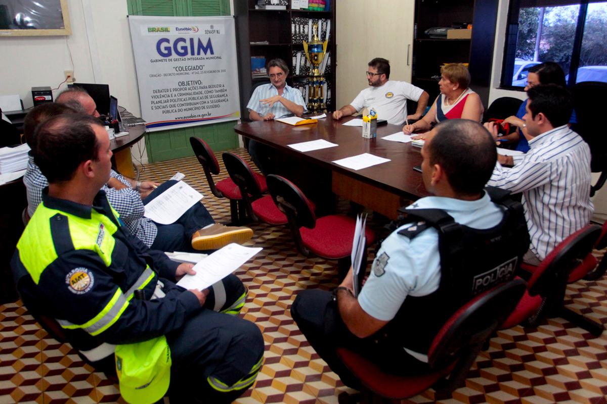 Gabinete de Gestão Integrada realiza reunião sobre ações de segurança no município
