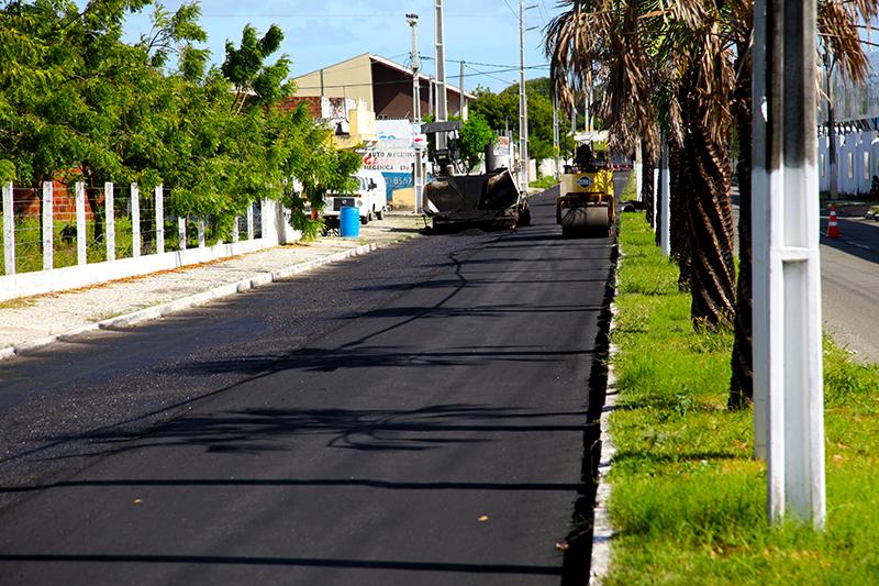 Prefeitura de Eusébio realiza reforma da Avenida Santa Cecília