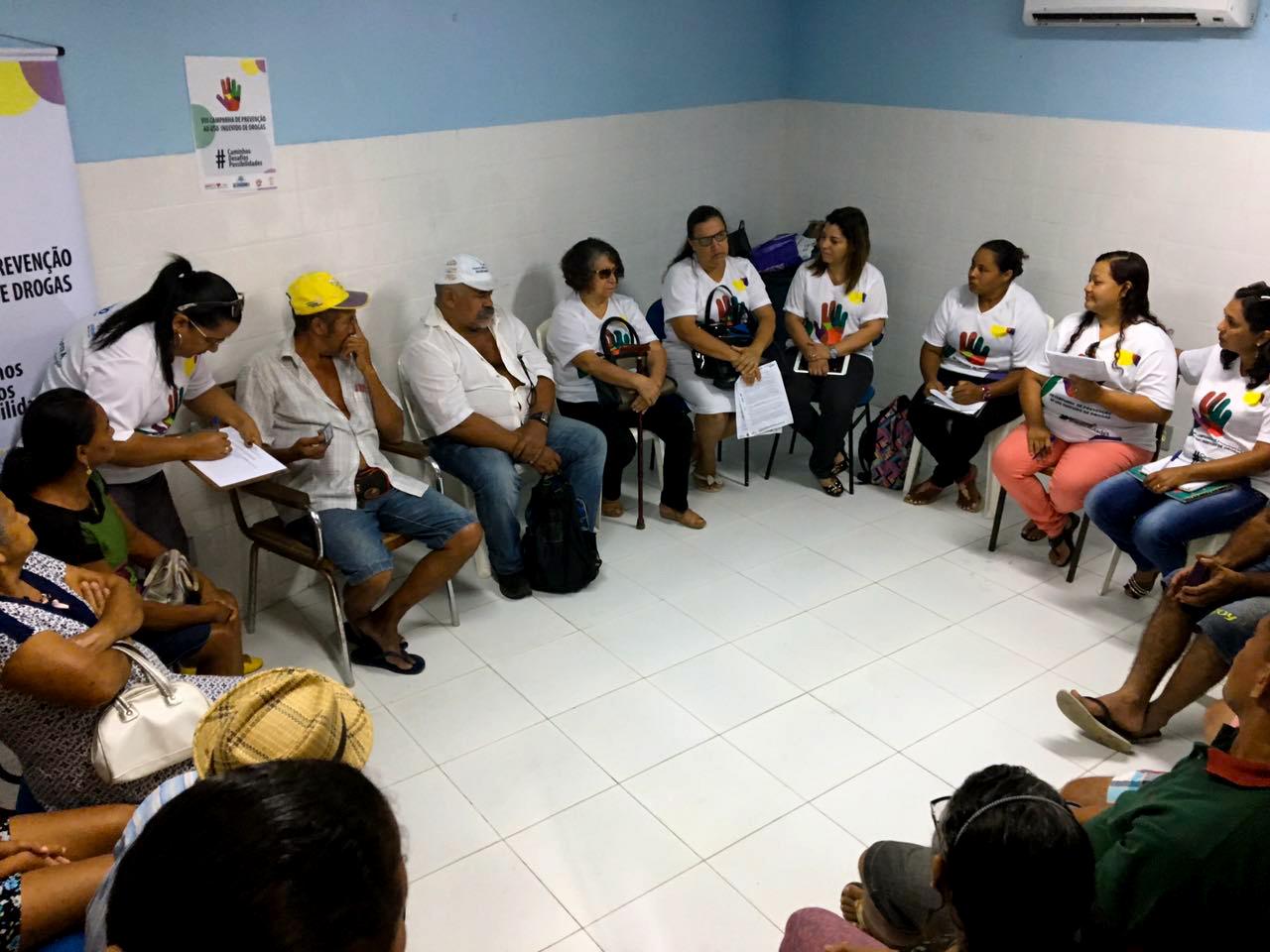 Eusébio realiza ações de prevenção ao uso indevido de drogas nos Postos de Saúde