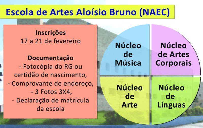 Escola de Artes realiza matrículas de 17 a 28 de fevereiro